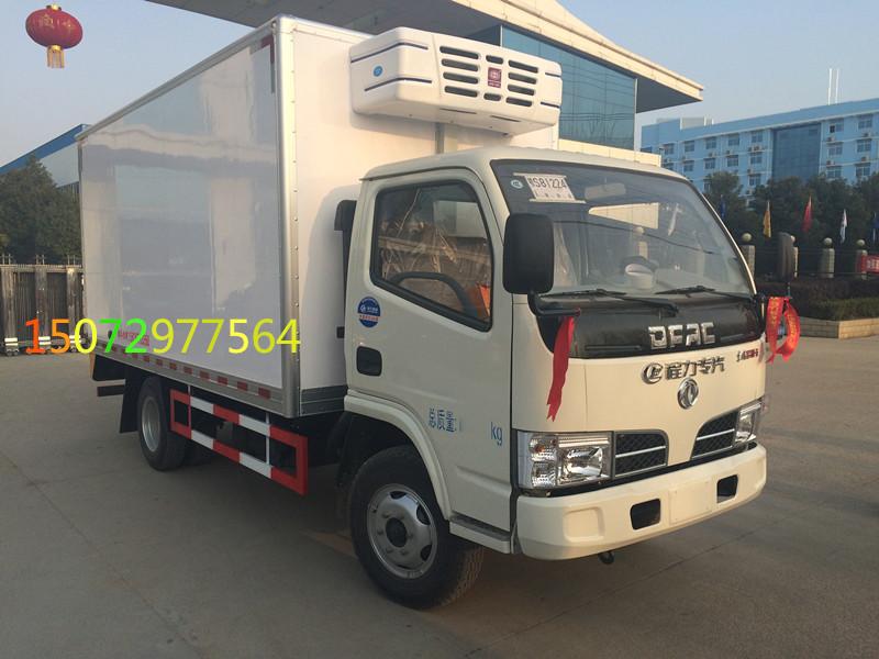 东风天然气4米2冷藏车