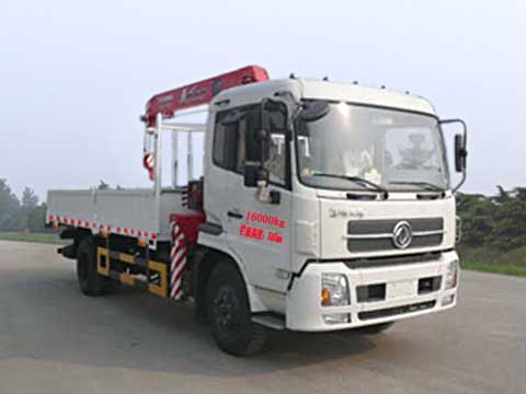 程力威牌CLQ5160JSQ4D型随车起重运输车