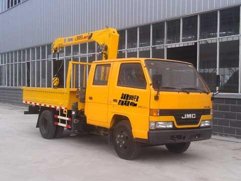 程力威牌CLQ5060JSQ4JX型随车起重运输车