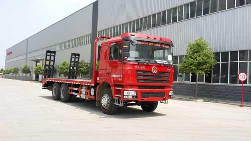 程力威牌CLQ5250TPB4SX型平板运输车