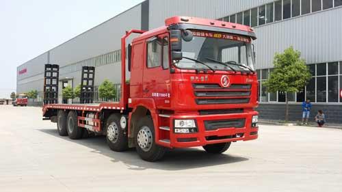 程力威牌CLQ5310TPB4SX型平板运输车
